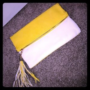 Yellow and white clutch